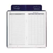 Dome Publishing Company- Inc. DOM771 Deluxe Automobile Mileage Log Book- 3-.25in.x6-.25in.- Blue