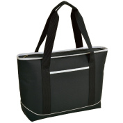 Picnic at Ascot 346-BLK Large Insulated Tote - Black/White