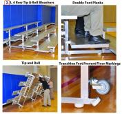 SSG-BSN TR0208P 2 Row 2.4m Preferred Tip And Feet Roll Bleacher