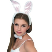 Rubies Costume Company Unisex Adult White / Pink Bunny Accessory Kit