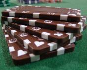 Brybelly Holdings PCB-2103 5 Brown Rectangular Poker Chips