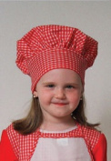 Dress Up America Red Gingham Chef Hat (kids) closes with hook and loop one size fits most kids H214
