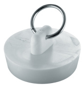Waxman Consumer Products Group 1-.127cm . White Basin Stopper 7512400T