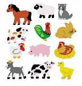 Pro-Art 458155 Sandylion Classpak Stickers-Farm Animals