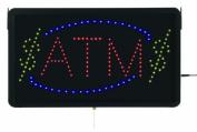 Aarco Products Inc. ATM10L High Visibility LED ATM Sign 33cm .Hx55.9cm .W