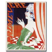 """Trademark Fine Art 46cm x 60cm """"Primevere"""" by Magritte-Framed"""