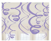 New Purple Plastic 60cm Hanging Decorations