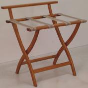 Wooden Mallet LR4-MOTAP WallSaver Luggage Rack in Medium Oak with Tapestry Webbing