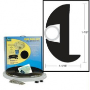 TACO Flex Vinyl Rub Rail Kit - Black w/Black Insert - 70' - 2.5cm - 2.2cm x 2.5cm - 0.2cm