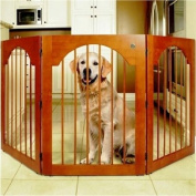 Majestic Pet 788995041146 Universal Free Standing Pet Gate Wood Insert and Cherry Stain