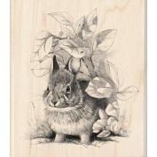 Inkadinkado 469788 Inkadinkado Mounted Rubber Stamp-Bunny Retreat