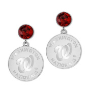 Game Time Group 101562 MLB Washington Nationals Disc Earring