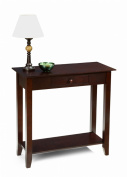 Convenience Concepts 8013081ES American Heritage Hall Table with Drawer& Shelf in Espresso