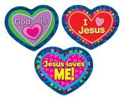 Carson Dellosa CD-168080 Jesus Loves Me Stickers