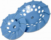 Diamond Products 00036 Core Cut 4 X .62 -11 Star Blue Spiral Turbo Cup Wheel