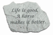 Kay Berry- Inc. 47520 Life Is Good A Horse Makes It Better - Garden Accent - 5 Inches x 3.25 Inches x 1.25 Inches