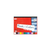 Mead MEA53050 Construction Paper Book- 30cm .x23cm .- 48 Sheets- Assorted