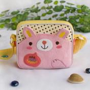 Blancho Bedding K-220-RABBIT Lovely Bunny Embroidered Applique Swingpack Bag Purse / Wallet Bag / Shoulder Bag