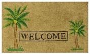 DC MILLS 12052 Palm Welcome Mat Vinyl Back Mat 18 X 30 Inches