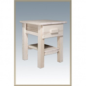 Montana Woodworks MWHCNDV Homestead Nightstand with Drawer - Clear Lacquer