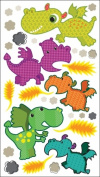 Sticko 476346 Sparkler Classic Stickers-Dragons