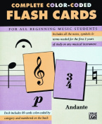 Alfred 00-12061 89 Color-Coded Flash Cards - Music Book
