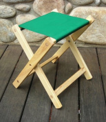 Blue Ridge Chair Works FSCH04WF Folding Stool - Forest Green