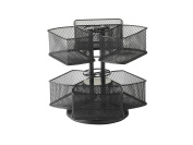 Nifty Home Products Black Make-Up Carousel