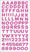 Sticko E5240045 Sticko Alphabet Stickers-Funhouse Pink Metallic