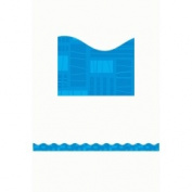 Teachers Friend TF-8280 Blue Graphic Pattern Scalloped- Trimmer Gr Pk-5
