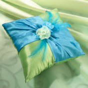 Lillian Rose RP820 Ring Pillow - Blue and Green