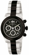 Invicta 6934 Mens Speedway ClaSSic Chronograph in Stainless Steel and Black IP SS on Bracelet With a Black Dial