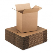 Corrugated Kraft Fixed-Depth Shipping Carton, 9w x 12l x 3h, Brown, 25/Bundle