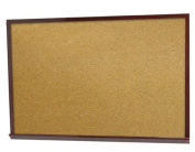 Aarco Products DBW1824 Frame Cherry Look Heavy-Duty Professional Series Cork Board with Wood-Look Trim