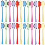 Cocktail Spoons 11cm 24/Pkg-Assorted Colours