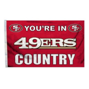 Fremont Die 94105B 0.9m x 1.5m Flag with Grommetts- San Francisco 49Ers