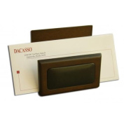 Dacasso 8000 Series Wood and Leather Letter Holder