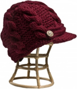 Nirvanna Designs CH211 Eggplant Equiestrian Knit Hat with Fleece