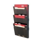 Deflect-o Hanging Wall File Folder System - 60cm Height X 32cm Width X 9.9cm Depth - 3 Pocket[s] - Smoke