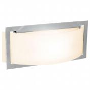 Access Lighting 62104-BS-OPL Argon 1 Light Opal Glass Wall Fixture - Brushed Steel