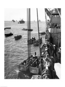 PVT/Superstock SAL25516815 High angle view of army soldiers in a military ship Normandy France D-Day June 6 1944 -18 x 24- Poster Print