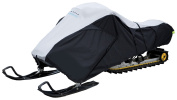 Classic Accessories 71827 Deluxe Snowmobile Travel Cover Black and Grey-Medium