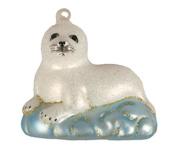 Cobane Studio COBANEC389 Baby Harp Seal Ornament