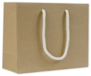 Bags & Bows by Deluxe 244R-090307-8 Recycled Kraft Groove Euro-Shoppers - Case of 200