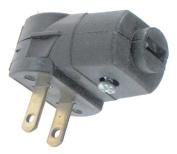 Leviton Mfg C25-101AN-00E Black Residential Grade Straight Blade Angle Plug