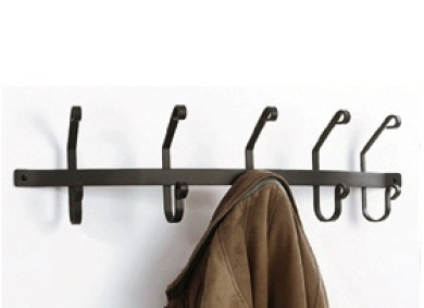 Village Wrought Iron CT WH 5 Wall Mounted Coat Rack With