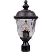 Maxim Lighting 3426WGOB Carriage House DC 1-Light Outdoor Pole/Post Lantern - Oriental Bronze
