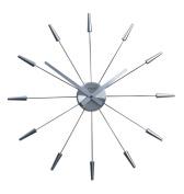 NEXTIME 2610zi Wall clock 23.6 Inch Diameter metal silver Plug inn