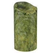 Meyda Tiffany 121498 4 in. W x 8 in. H Jadestone Green Uneven Top Candle Cover