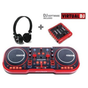 FIRST AUDIO MANUFACTURING MYSCRATCHPACK USB DJ MIDI Controller with Headphones and External Sound Interface